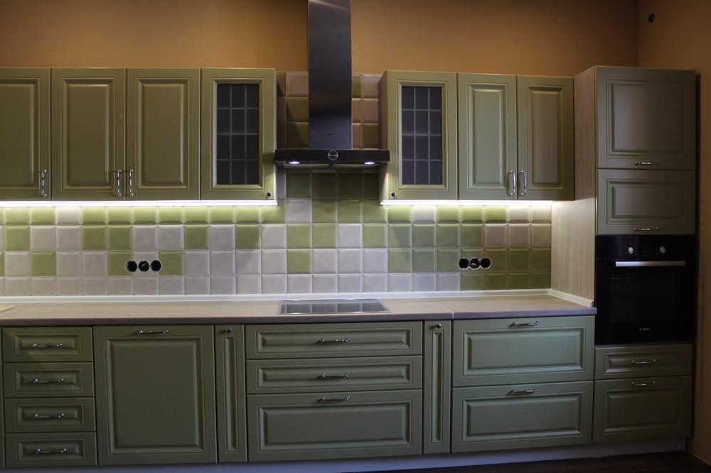 Классические кухни-Кухня МДФ в ПВХ «Модель 91»-фото4