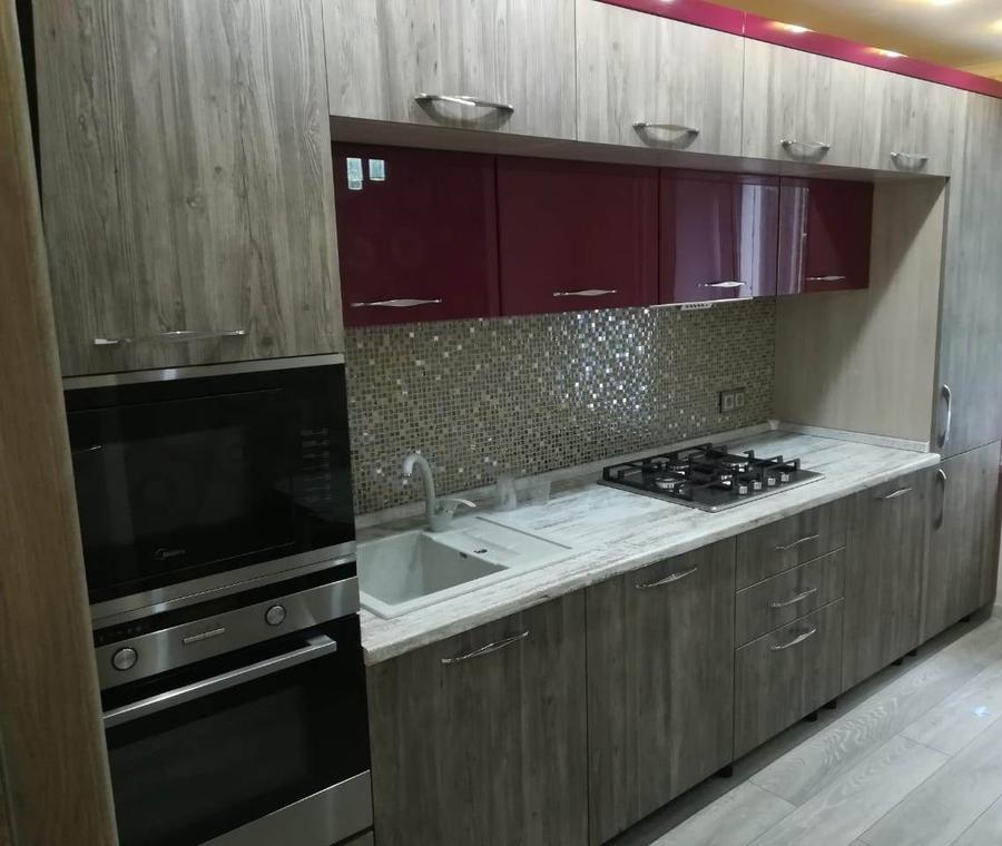 Встроенная кухня-Кухня из ЛДСП «Модель 378»-фото2