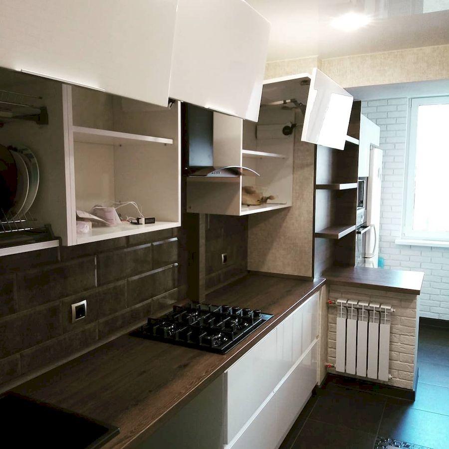 Белый кухонный гарнитур-Кухня МДФ в эмали «Модель 654»-фото5