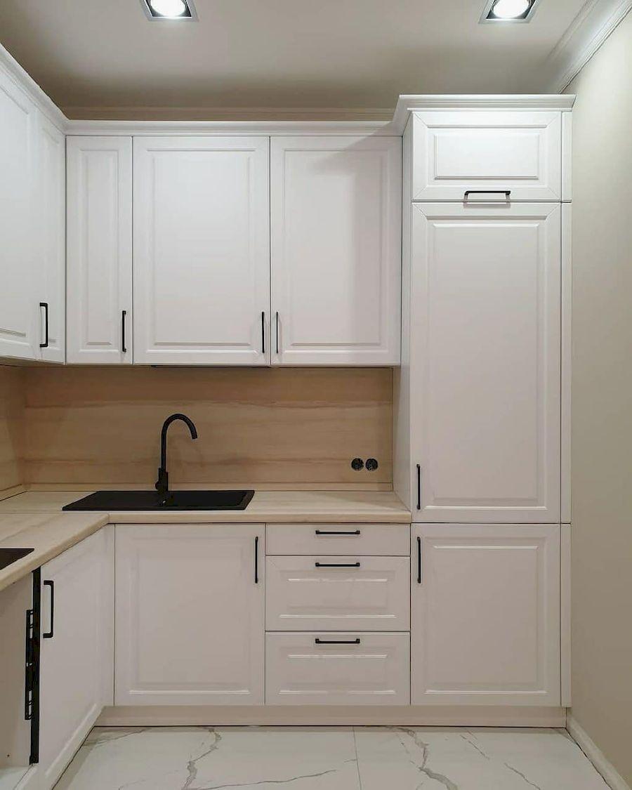 Белый кухонный гарнитур-Кухня МДФ в ПВХ «Модель 634»-фото3