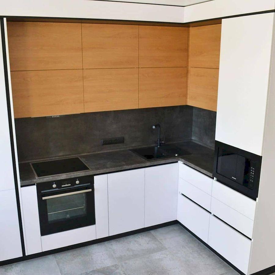 Белый кухонный гарнитур-Кухня МДФ в эмали «Модель 645»-фото2