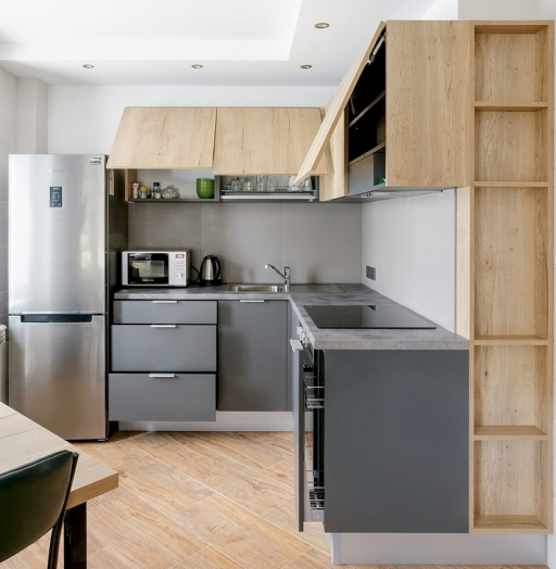 Купить кухню-Кухня МДФ в ПВХ «Модель 601»-фото5