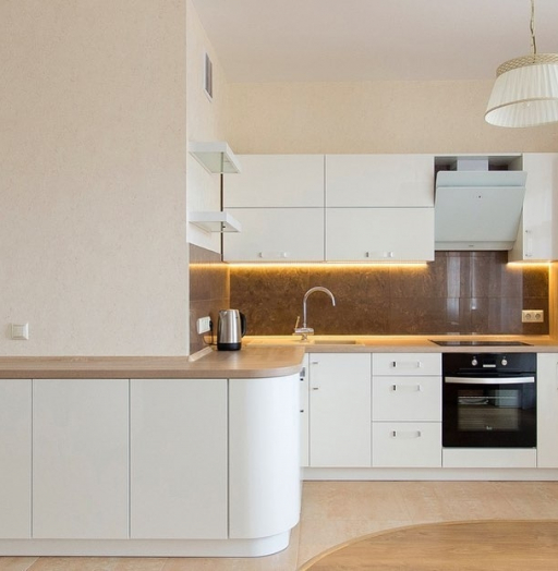 Белый кухонный гарнитур-Кухня МДФ в эмали «Модель 619»-фото8