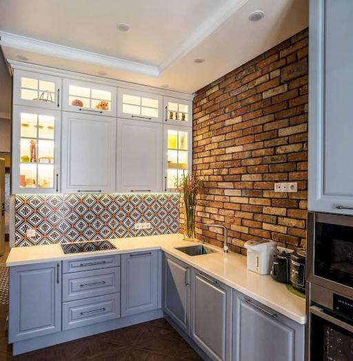 Классические кухни-Кухня МДФ в эмали «Модель 642»-фото3